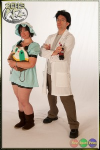 Cosplay: Mayuri Shiina & Rintarou Okabe, Anime: Steins;Gate (photo courtesy of On the Spott PhoTography: seespottprint.com; I didn't actually get any pictures of myself on Day 3!)
