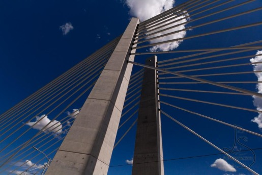 The Tilikum Crossing reaches for the clouds.